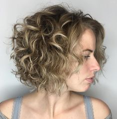 Messy Curly Dirty Blonde Bob