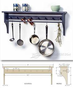 Pot Rack Plans - Furniture Plans and Projects | WoodArchivist.com