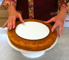Making a beveled cake