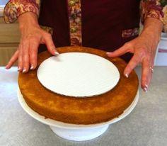 Making a beveled cake