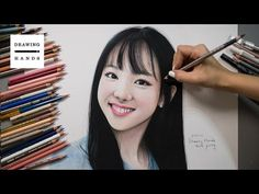 Speed Drawing TWICE - Tzuyu  Drawing Hands  - YouTube Drawing Process,  Drawing Hands e158300eaa