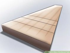 Image titled Make a Shuffleboard Table Step 3 Shuffleboard Table, Rustic Living Room Furniture, Diy Table, Wood Table, Table Games, Shuffle Board, Wood Projects, Mattress, Countertops