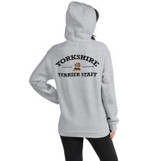 A new hoodie for Yorkshire Terrier lover, mom and parent from our new clothing collection, Staff. Dog Wear, Yorkshire Terrier, Dog Mom, Hoodies, Sweatshirts, Yorkie, Rib Knit, Dog Lovers, Unisex