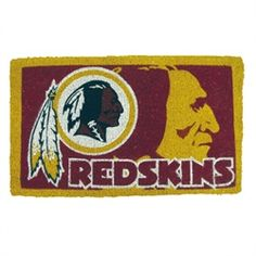 Washington Redskins NFL Football Authentic Logo Indoor Outdoor Welcome Mat