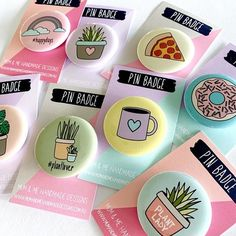 Assorted Badges Badge by mumandmehandmadedesigns- An Australian Online Stationery and Card Shop Bag Pins, Wedding Pins, Wedding Badges, Hair Wedding, Wedding Ideas, Diy Buttons, Badge Design, Button Badge, Pin And Patches