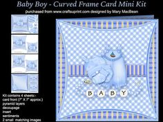 Baby Boy Curved Frame Card Mini Kit on Craftsuprint - View Now!