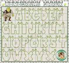 Angela Embroidery: Alphabet Sherk Alphabet