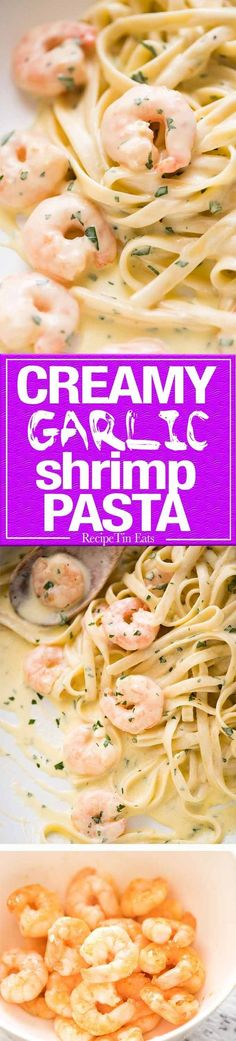 This Creamy Garlic Prawn Pasta is for all those nights when nothing but a creamy pasta will do.