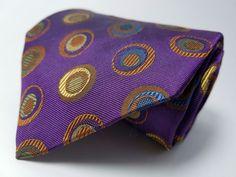 JOS. A. BANK Hand Made 100% Silk Tie Men's NWOT Purple Orange Brown Necktie #JosABank #Tie