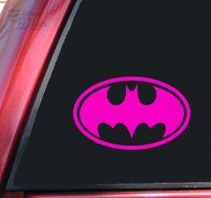 Batman Bat Symbol Vinyl Decal Sticker – Hot Pink http://www.thecarmania.com/15-best-batman-car-accessories-2015/