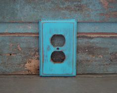 Outlet Cover Plate Turquoise Distressed by turquoiserollerset, $6.00
