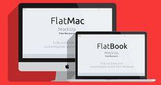 Freebies #22 • Mock-ups em Flat Design