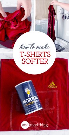 Using just a bit of salt and warm water, you can make a brand new t-shirt feel as soft and fluffy as your favorite vintage tee. Really!