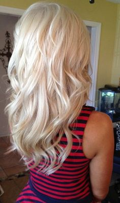 Long Blonde Curly Hairstyles 2016 Bangs
