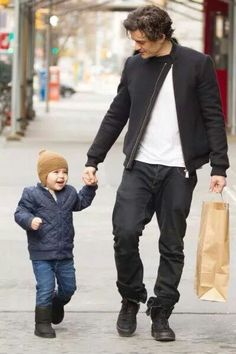 Orlando Bloom and the little flynn