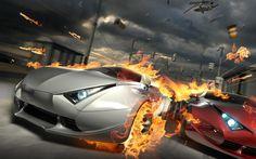 Wallpaper Fire cars Cars HD Wallpaper 1920x1200 px