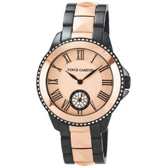 Vince Camuto Watch, Women's Two-Tone Stainless Steel Bracelet 35mm VC-5049RGTT