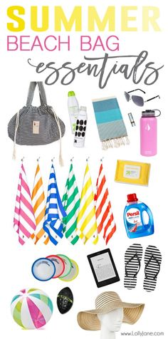 Summer Beach Bag Essentials... grab this list of everything you need for a fun day on the beach! @PersilProClean is a must have, grab it at Target! #persilproclean #persilattarget #ad #beach #summer