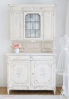Schrank Lara http://www.suendenherz.de/ #white #shabby #KitchenDresser #cupboard