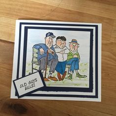 Art Impressions Rubber Stamps: Ai People: 4474 – Old Guys Club Set ...handmade masculine card.