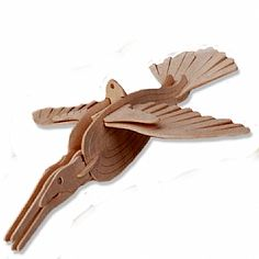 3-D Wooden Puzzle - Small Kingfisher