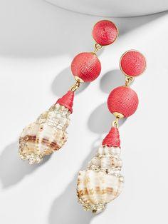 """baublebar, """"laganas"""" drop earrings (coral)."""