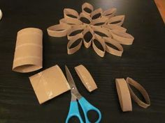 toliet paper roll art! Will be so pretty once painted!