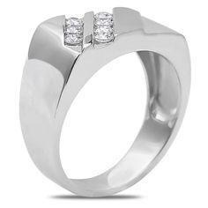 Ebay NissoniJewelry presents - Men's 1/2CT Diamond Fashion Ring in 14k White Gold with a Cage Back    Model Number:GR9061H-W477J    http://www.ebay.com/itm/Men-s-1-2CT-Diamond-Fashion-Ring-in-14k-White-Gold-with-a-Cage-Back/321612119084