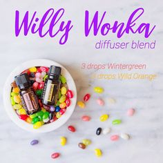 """Take a personal tour through Willy Wanka's candy factory with this sweet, sugary, and refreshing…"" Diffuser Blend"