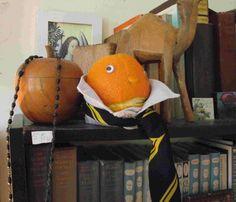 Mr Angry Orange - thoughtful scholar.