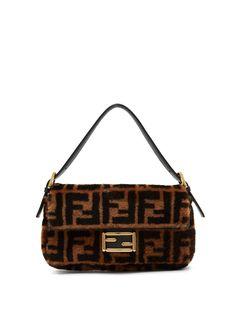 1310ffcaf2 Baguette logo-print shearling shoulder bag