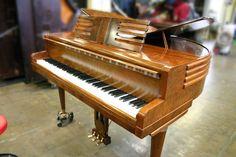 Wurlitzer Butterfly baby grand piano http://pinterest.com/cameronpiano