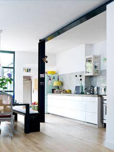 Stalen balk&pilaar naar open keuken