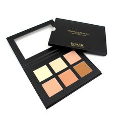 IMAGIC Professional Cream Contour Palette Concealer Palette Contouring Makeup Cosmetic Facial Care Cream Palette 6 Colors