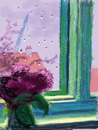 David Hockney Has Made Beautiful (and Rarely Seen) iPad Drawings of the View From His Bedroom Window. Enjoy Them Here David Hockney Photography, David Hockney Ipad, David Hockney Paintings, Pop Art Movement, Ipad Art, Window Art, Lovers Art, Iphone, Illustration