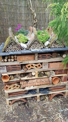 Make Your First Organic Garden A Success Garden Crafts, Garden Projects, Garden Art, Garden Design, Garden Ideas, Bug Hotel, Garden Bugs, Sensory Garden, Dream Garden