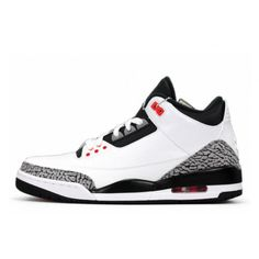 where to buy authentic air jordan 3 mens white black wolf grey retro infrared 23 free shipping