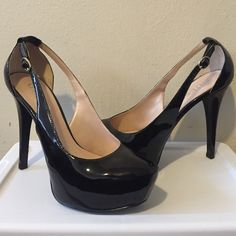 Black Heels by GUESS Close to brand new, only worn ONCE, still in great condition. Guess Shoes Heels