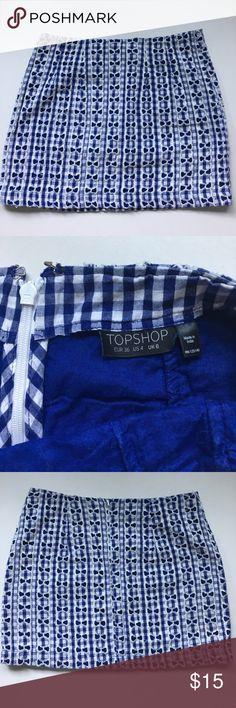 Skirt TOPSHOP sz4 Crochet skirt with lining TOPSHOP sz S/XS /4 Topshop Skirts Mini