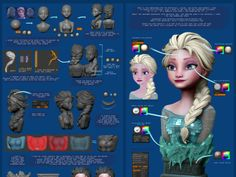 Frozen Zbrush Elsa