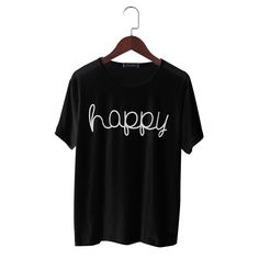 Happy Printed Women T Shirt