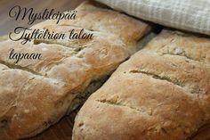 Tyttötrion talossa tapahtuu: Herkullinen ja helppo leipä resepti.