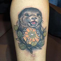 Love those adorable animal tattoos? Check out these fancy otter tattoos and enjoy the animal ink.