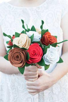"Felt Bouquet - Wedding Bouquet - Alternative Bouquet - ""Holiday Cheer"" on Etsy, £59.77"