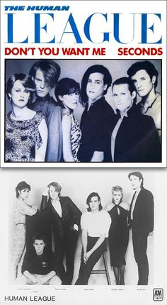 """Human League """"Don't You Want Me"""" (1981) — 45 rpm Record Sleeve & Promo Photo"""