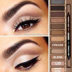 Make Up Urban Decay Naked Palette Makeup 101, Makeup Goals, Love Makeup, Skin Makeup, Beauty Makeup, Makeup Ideas, Classy Makeup, Makeup Eyeshadow, Glitter Eyeshadow