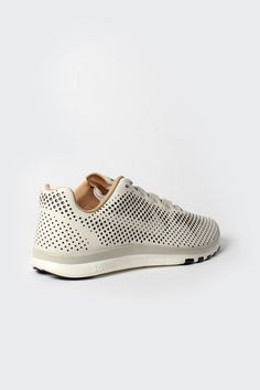 Nike White Perforated Leather Shoes