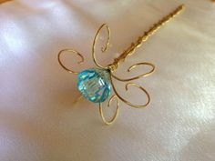 Fairy Wand or Princess Scepter Jewel Wand Gold by WirePrincess, $24.00