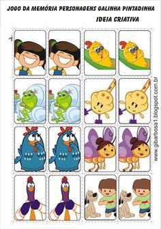 Ideia Criativa - Gi Barbosa Educação Infantil: Jogo da Memória Personagens Galinha Pintadinha