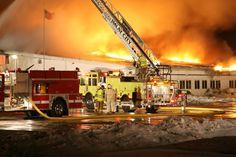 Lapeer Co Fire Association - Champion Bus Fire.